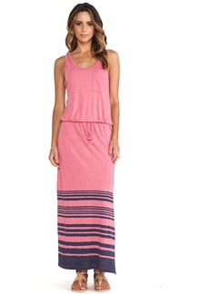 C&C California Striped Maxi Dress
