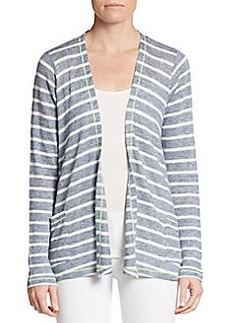 C&C California Striped Open-Front Cardigan