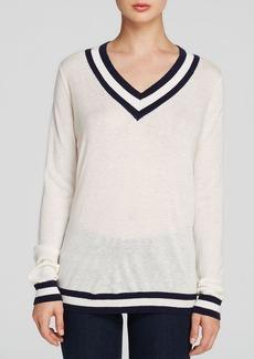 C&C California Sweater - V Neck Stripe