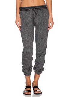 C&C California Terry Pant With Faux Leather Detail