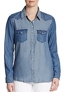 C&C California Two Tone Chambray Shirt