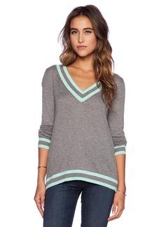 C&C California V Neck Tipped Sweater