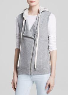 C&C California Vest - Asymmetric Zip Hooded