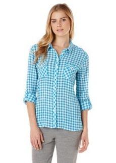 crinkle gingham two pocket shirt