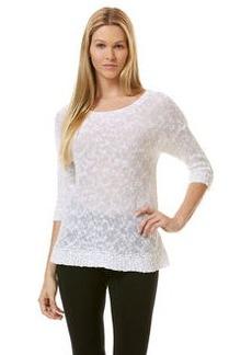 elbow sleeve boat neck sweater