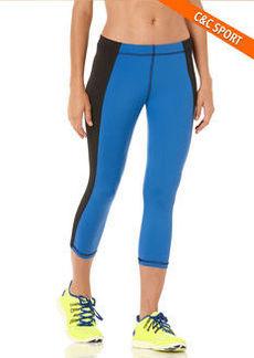 exceed color block knee-length capri