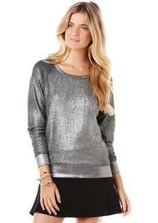 foiled heather grey french terry sweatshirt