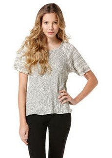 heather grey two-toned loose knit tee