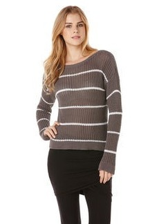 long sleeve boat neck sweater