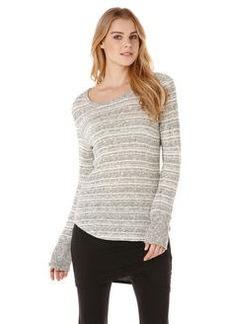 long sleeve grey two-tone stripe tee