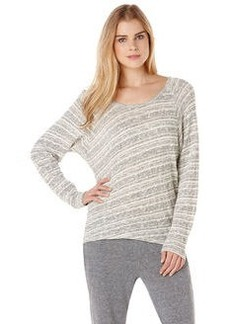 long sleeve stripe raglan top