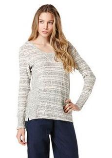 long sleeve stripe solid hoodie