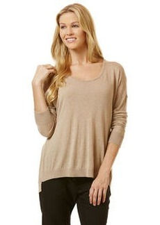 long sleeve sweater with back placket