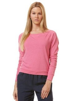 long sleeve wide neck sweatshirt