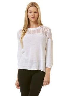mesh jersey mix sweater