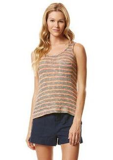 mini stripe loose knit pocket tank