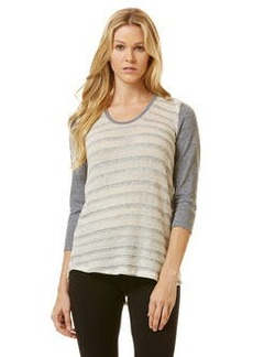 mixed media loose knit tee