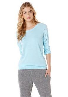 solid triblend raglan sweatshirt