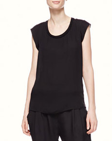 Sleeveless Muscle Tee, Black   Sleeveless Muscle Tee, Black