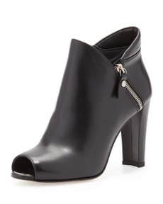 Jump Peep-Toe Ankle Boot, Black   Jump Peep-Toe Ankle Boot, Black