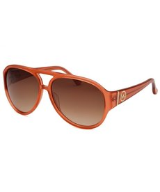 Michael By Michael Kors Women's Whittier Aviator Orange Crystal Sunglasses