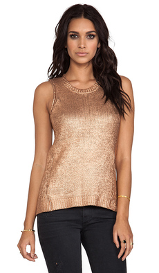 Ella Moss Beatrix Tank in Metallic Copper