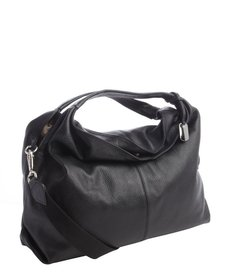 Furla onyx leather 'Elisabeth' extra large hobo bag