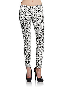 French Connection Snake-Print Skinny Pants