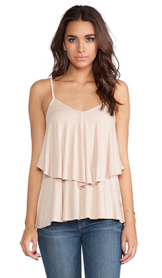 Rachel Pally Rib Ruffle Top in Blush