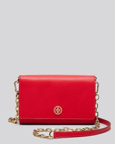 Tory Burch Crossbody - Robinson Contrast Wallet On A Chain