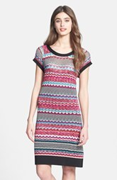 Laundry by Shelli Segal Multi Stitch Sweater T-Shirt Dress