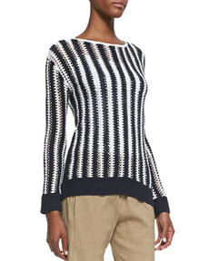 Utopian Two-Tone Striped Sweater   Utopian Two-Tone Striped Sweater