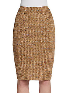 St. John Couture Tweed Pencil Skirt