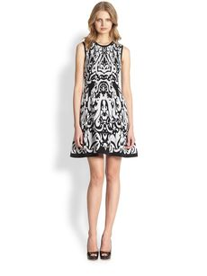 Shoshanna Becky Ikat Sweater Dress