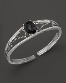 Badgley Mischka Onyx And Diamond Cuff