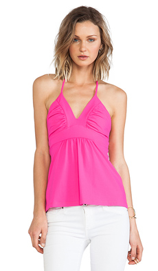 Susana Monaco Gather String Halter Top in Fuchsia