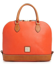 Dooney & Bourke Pebble Zip Top Satchel