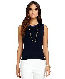 Sleeveless Color-Block Shell