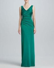 David Meister Sleeveless Sheath Gown