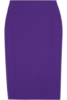 Oscar de la Renta Stretch-wool pencil skirt