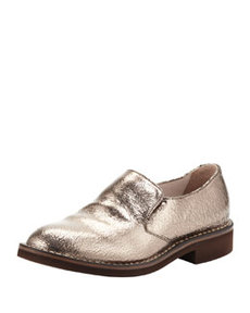 Crackle Metallic Slip-On Loafer, Silver   Crackle Metallic Slip-On Loafer, Silver
