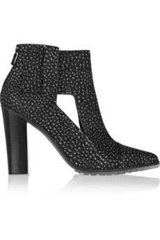 Tibi Perla printed brushed-leather ankle boots