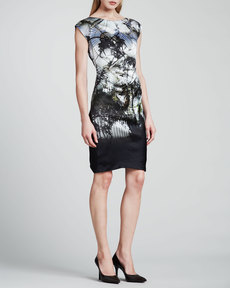 Escada Atrium Place Printed Silk Dress