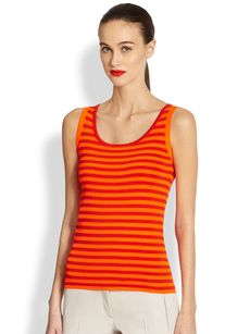 Akris Punto Knit Striped Tank