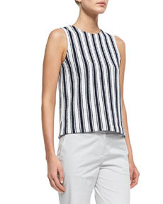 Cyclade Striped Knit Tank Top   Cyclade Striped Knit Tank Top