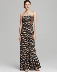 MICHAEL Michael Kors Strapless Maxi Dress