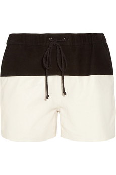 Proenza Schouler Suede and leather boardshorts