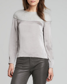 J Brand Ready to Wear Svetlana Knit-Top Blouse