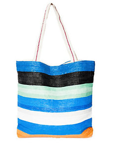 STRIPED RECYCLED TOTE