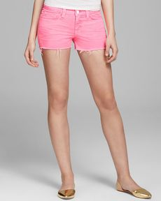 J Brand Shorts - 1046 Low Rise Cutoff in Signal Pink